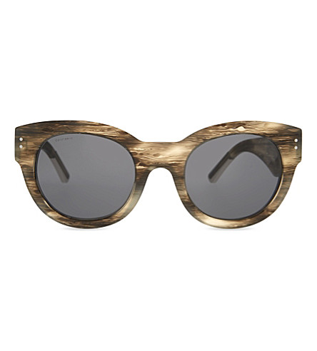 BURBERRY Runway Phantos cateye sunglasses (Grey
