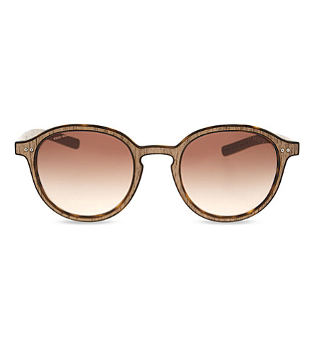 GIORGIO ARMANI AR8081 round-frame sunglasses (Matte+havana