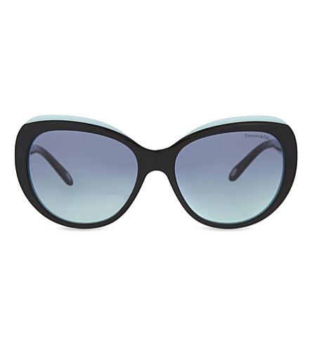 TIFFANY & CO TF4122 1837 cat eye-frame sunglasses (Black