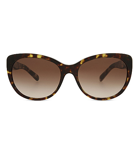 BURBERRY BE4224 cat-eye tortoiseshell sunglasses (Dark+havana