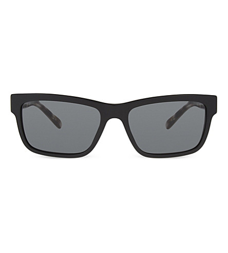 BURBERRY BE4225 Check square-frame sunglasses (Black