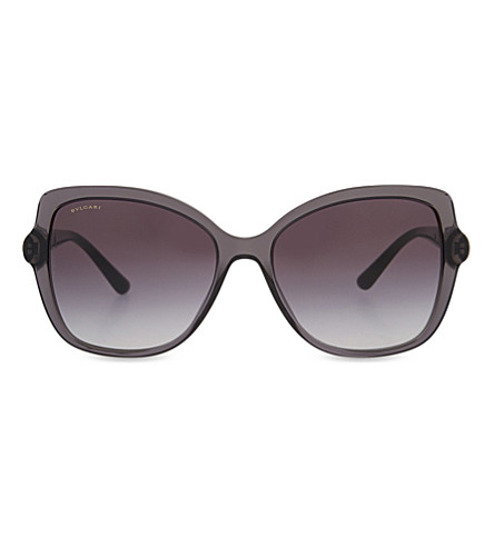 BVLGARI BV8174 butterfly-frame sunglasses (Transparent+grey