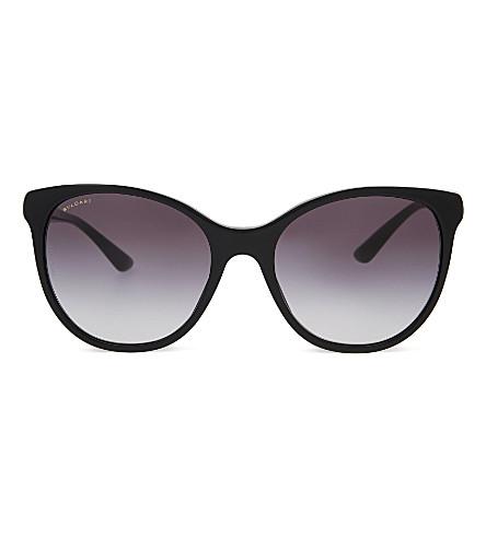 BVLGARI 0BV8175 歌剧《梦幻圆框太阳镜》 (黑色