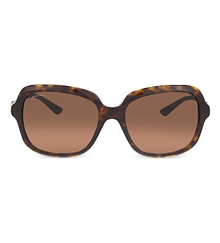 BVLGARI BV8176B square-frame sunglasses (Dark+havana