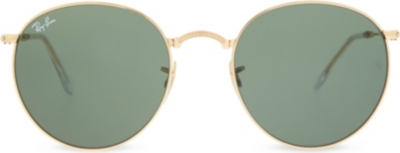 Ray Ban Round Frame Sunglasses : RAY-BAN - RB3532 folding round-frame sunglasses ...