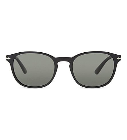 PERSOL PO3108S round-frame sunglasses (Havana