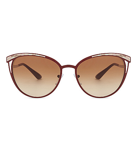 BVLGARI Bv6083 cat eye-frame sunglasses (Burgundy