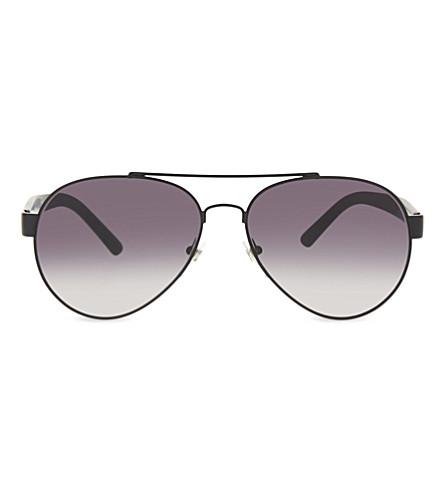 BURBERRY BE3086 Sartorial aviator sunglasses (Matte+black