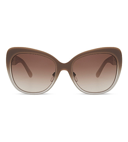 BURBERRY BE3087 Regent cat eye-frame sunglasses (Light gold