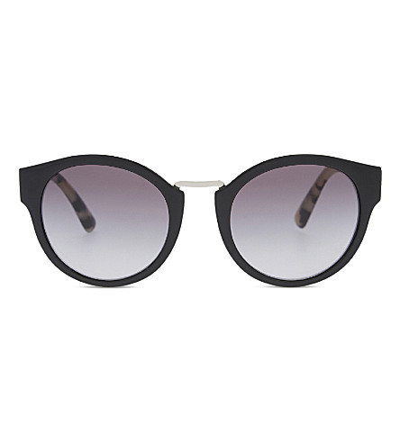 BURBERRY B4227 round-frame sunglasses (Black