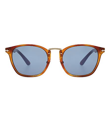 PERSOL PO3110S square-frame sunglasses (Havana