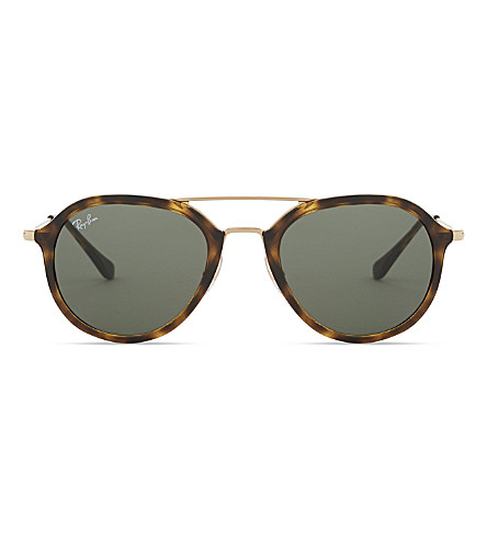 RAY-BAN 0rb4253 Havana square-frame sunglass (Light+havana