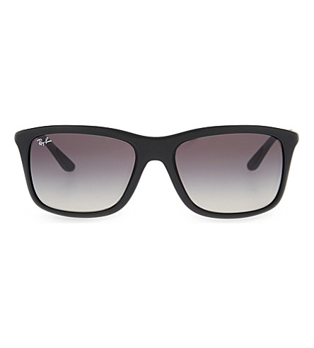 RAY-BAN RB8352 square-frame sunglasses (Matte+black