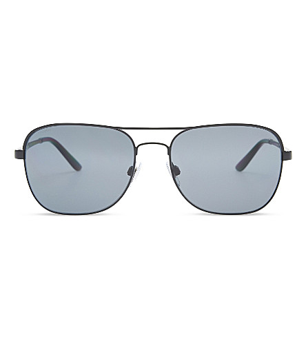 GIORGIO ARMANI AR6040 Square-frame sunglasses (Matte black