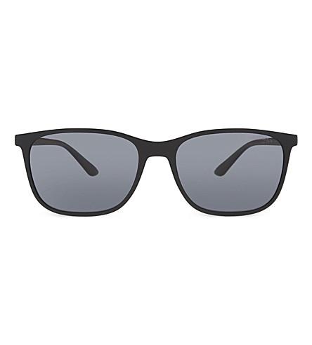 GIORGIO ARMANI AR8084 Frames of Life square-frame sunglasses (Matte+black