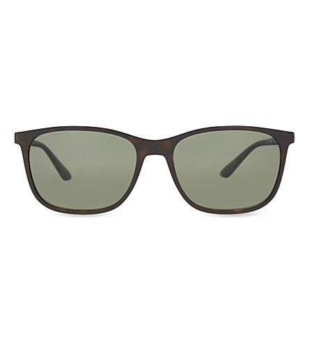 GIORGIO ARMANI AR8084 Frames of Life square-frame sunglasses (Matte+havana