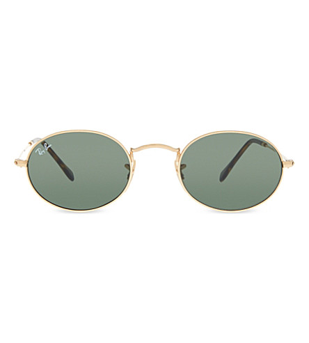 RAY-BAN RB3547N oval-frame sunglasses (Gold