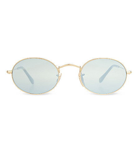 RAY-BAN RB3547N round-frame sunglasses (Gold