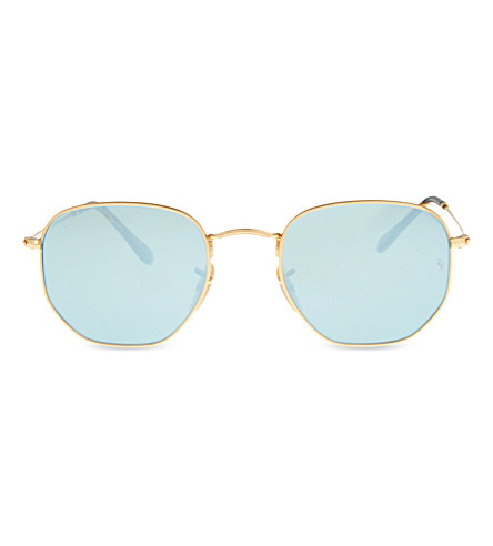 RAY-BAN RB3548N square-frame sunglasses (Gold