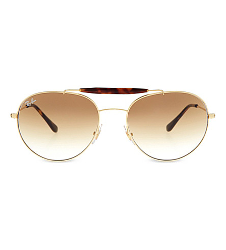 RAY-BAN RB3540 Aviator sunglasses (Gold