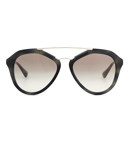 PRADA PR12QS Square-frame sunglasses (Grey