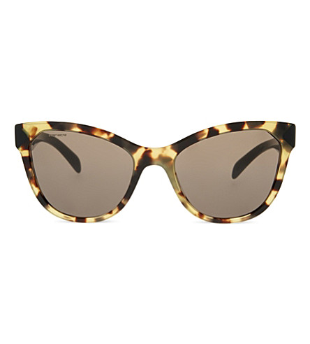 PRADA PR21SS Havana cat eye-frame sunglasses (Medium+havana