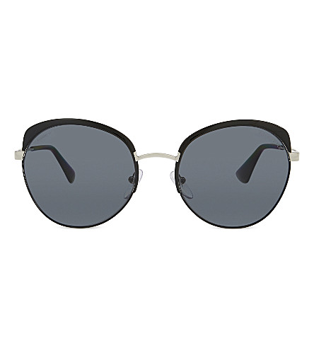 PRADA PR51SS Phantos round-frame sunglasses (Black