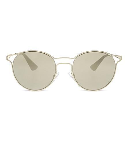 PRADA PR62SS Phantos round-frame sunglasses (Pale+gold