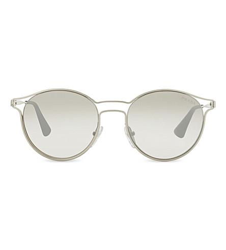 PRADA PR62SS mirrored round-frame sunglasses (Silver