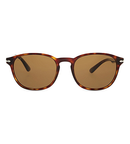 PERSOL PO3148S round-frame sunglasses (Havana