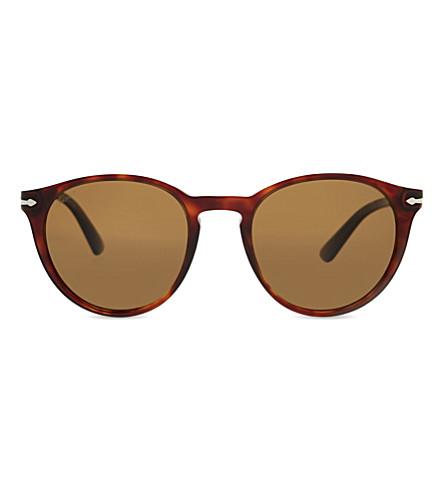 PERSOL PO3152S round-frame sunglasses (Havana
