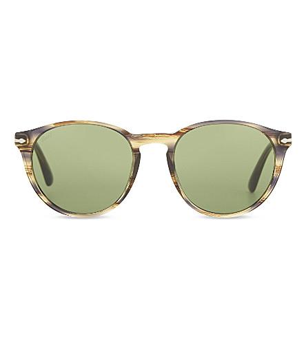 PERSOL PO3152S Galleria '900 round-frame sunglasses (Brown