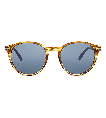 PERSOL PO3152S round-frame sunglasses (Striped+brown+yellow