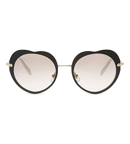 MIU MIU MU54RS The Collection round-frame sunglasses (Black