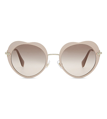 MIU MIU MU54RS The Collection round-frame sunglasses (Matte+pink