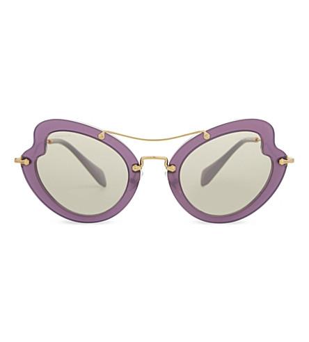 MIU MIU MU11RS Irregular butterfly-frame sunglasses (Violet