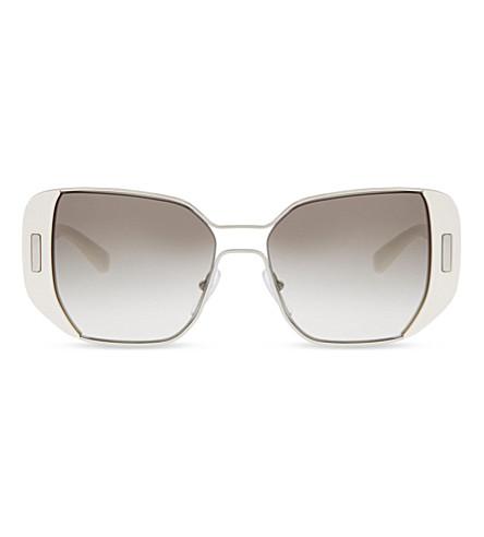 PRADA PR59SS Mod rectangle-frame sunglasses (Silver