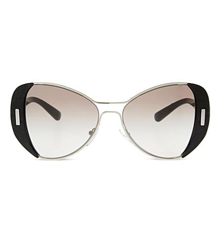 PRADA PR60SS Mod butterfly-frame sunglasses (Silver