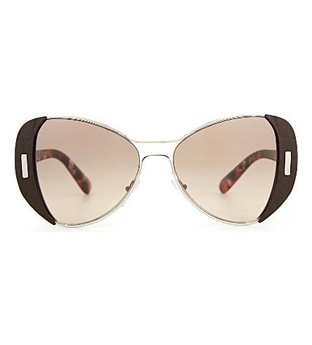 PRADA PR60SS 型蝶形框架太阳镜 (棕色