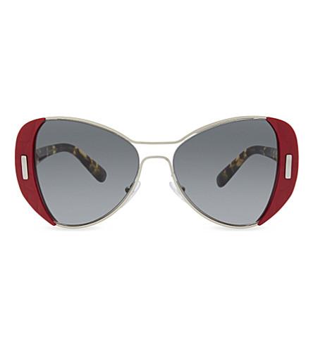 PRADA Pr60ss butterfly-frame sunglasses (Red