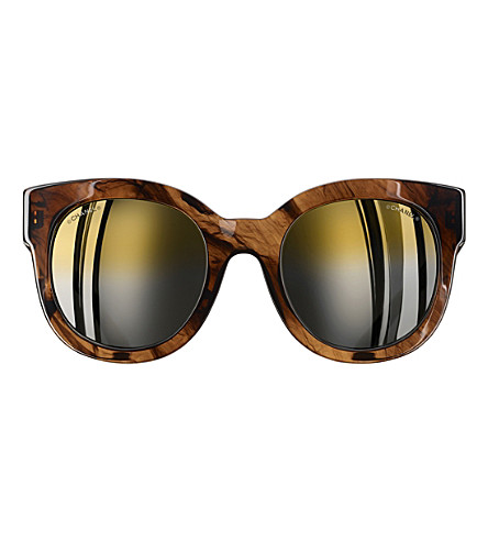 CHANEL Butterfly sunglasses (Brown