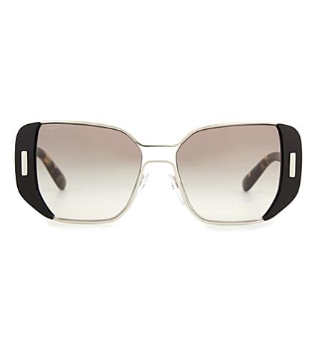 PRADA PR59SS Mod square-frame sunglasses (Black