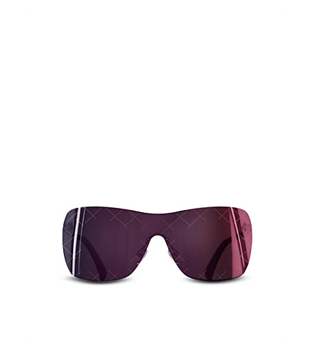 CHANEL Shield sunglasses (Burgundy