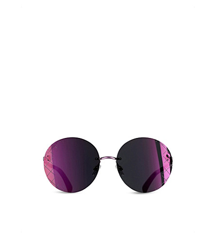 CHANEL Round sunglasses (Burgundy