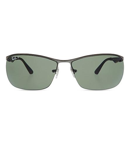 RAY-BAN RB3550 G-15 square-frame sunglasses (Matte+gunmetal