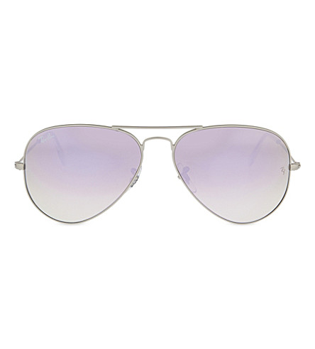 RAY-BAN RB3025 Aviator Large Metal sunglasses (Matte+silver