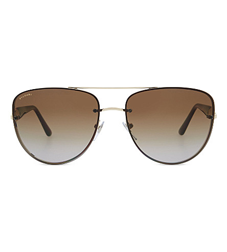 BVLGARI 0BV6086 Diva's Dream aviator sunglasses (Pale+gold