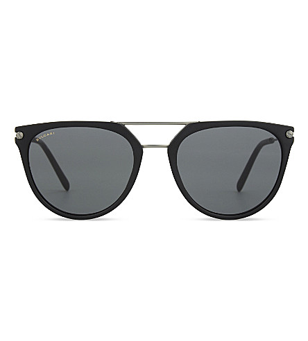BVLGARI BV7029 Matte cat eye-frame sunglasses (Matte+black
