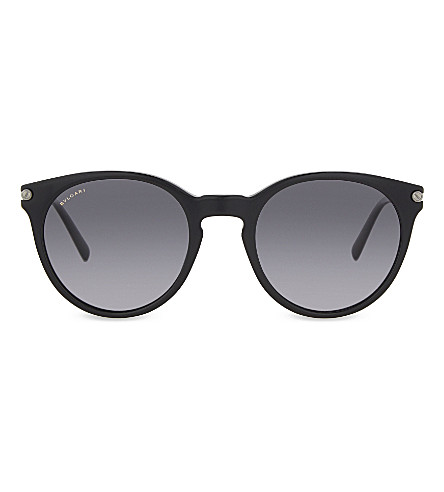 BVLGARI Bv7030 oval-frame sunglasses (Black