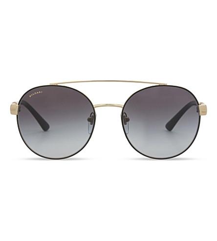 BVLGARI BV6085B Round-frame sunglasses (Black